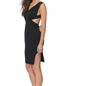 Finders Keepers Love Lockdown Black Cutout Dress